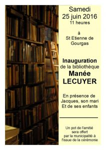 Inauguration Bibliothèque Manée